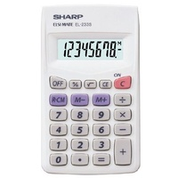 Calculator  8 Digit Sharp EL233SB Large Display