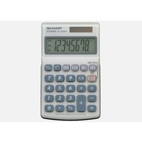 Calculator  8 digit Sharp EL240SAB Pocket  Twin power (solar cell & battery LR1130 X 1)