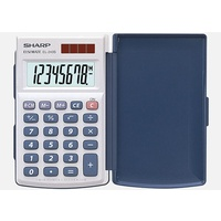Calculator  8 digit Sharp EL243S Pocket Battery & Solar Elsimate School and Office