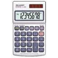 Calculator  8 Digit Sharp EL326SB With Protective Wallet