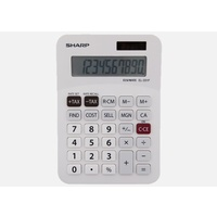 Calculator  8 digit Sharp EL330FB DeskTop Battery & Solar Angled display for easy reading