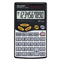 Calculator 10 digit Sharp EL480SB Pocket Battery & Solar