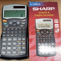 Calculator 14 digit Sharp EL520VB Scientific 232 Function 2 power