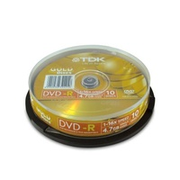 DVD Minus Recordable TDK Gold 4.7GB 16x Spindle of 10