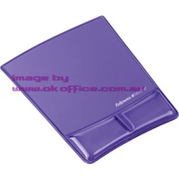 Mouse Mat Pad and Wrist Rest Gel Purple Fellowes 91835 - each