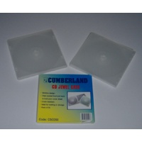 CD Jewel Case flexible clear plastic - pack 5