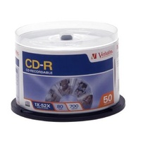 CDR Verbatim Spindle 50 80min 52x 94691 Approved high speed 52X recording