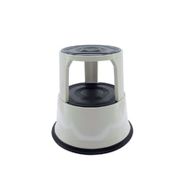 Step Stool Rolling 2 step Jastek - Plastic, 380mm high 150kg rated base 410mm round top 280mm round