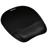 Mouse Pad Wrist Rest Fellowes Memory 91765 Black - each