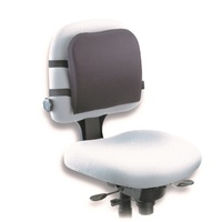 Kensington Back Rest Memory Foam 82025 Removable, washable, cotton/polyester fabric cover.