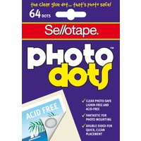 Photo Dots Sellotape Clear Acid Free 64 Dots 990005 - pack