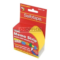 Gripping Stuff Sellotape Memo Strip 38mm x 2M Yellow - roll