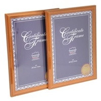 Picture Frame A4 Document Brown (light Brown) Frame - Box 6 melbourne only
