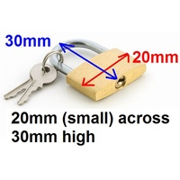 Padlock 20mm Brass HW1004B - each