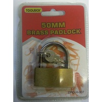 Padlock 50mm Brass DRDH007 - each