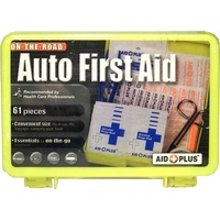 First Aid Kit Auto Care 61 Piece Aid Plus HC1034 - each ** Sydney Only **