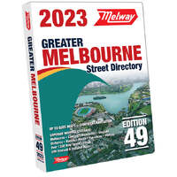 45th Edition 2018 Street Directory Melway * Melbourne only * can only courier deliver to Melbourne metro