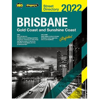 62nd Edition 2018 Street Directory UBD Brisbane Gold Coast Sunshine Coast Edition ** Delivery Brisbane only **