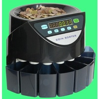 Electric Coin Counter for Australian coins , just chuck your coins in the top it will separate and count them for you
