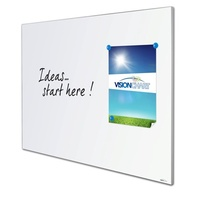 Whiteboard Projection Edge 1500 x 1190mm Porcelain Magnetic LX8-1512-P - each