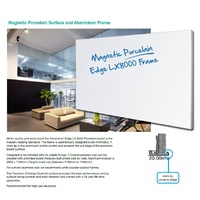 LX8000 EDGE Series 1800x1190mm PORCELAIN Whiteboard Magnetic) LX8-1812