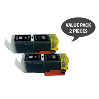 PGI-650XL x 2 Pigment Black Compatible Cartridge - pack of 2 for Canon