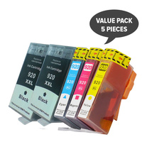 920XL Compatible Inkjet Set PLUS Extra Black (5 Cartridges)