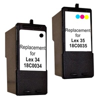 18C0034 no.34 Compatible Inkjet Cartridge Set #1 2 Cartridges