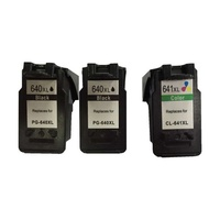 PG-640XL x2 and 1x CL-641XL Remanufactured Inkjet Cartridge Set 3 Cartridges (New Chip)