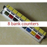 Tally Counter (D8b) DeskTop 8 bank 4 digit Aluminium