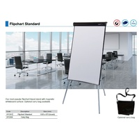 Flipchart Stand + Magnetic whiteboard 987x655mm * includes 20 page flip chart pad, 4 markers + eraser Visioncart