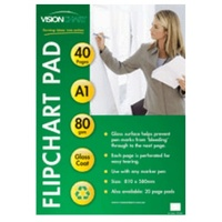 Flipchart Pad 40s Bond 80gsm 10 pack Paper semi gloss paper 80gsm 810x580mm - pack 10 pads Training and Presentation