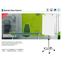 Flipchart Mobile Easel magnetic Lumiere Glass Board size (960x700) Deluxe  ** Extra freight for country would apply