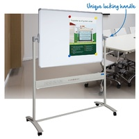 Mobile Whiteboard 1200x900mm Magnetic Porcelain Surface Corporate - VM1290-P + stand
