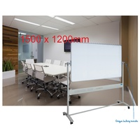 Mobile Whiteboard + stand 1500x1200mm + Magnetic Enamel Surface Corporate - VM1512