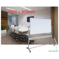 Mobile Whiteboard + stand 1500x900mm + Magnetic Enamel Surface Corporate - VM1590