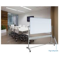 Mobile Whiteboard + stand 1800x1200mm + Magnetic Enamel Surface Corporate - VM11812