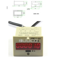 People Counter electronic sensor Display: 6 digits Red LED 5 metre doorway - each