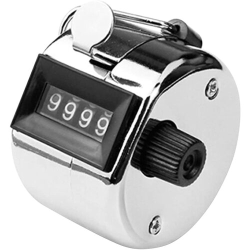 Tally Counter (B1) Hand Held 4 digit 0000-9999 chrome