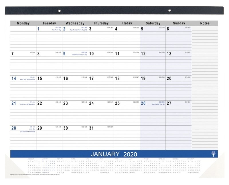 Table Top Planner 2019 445x560mm Desk Pads 3901 C59 19
