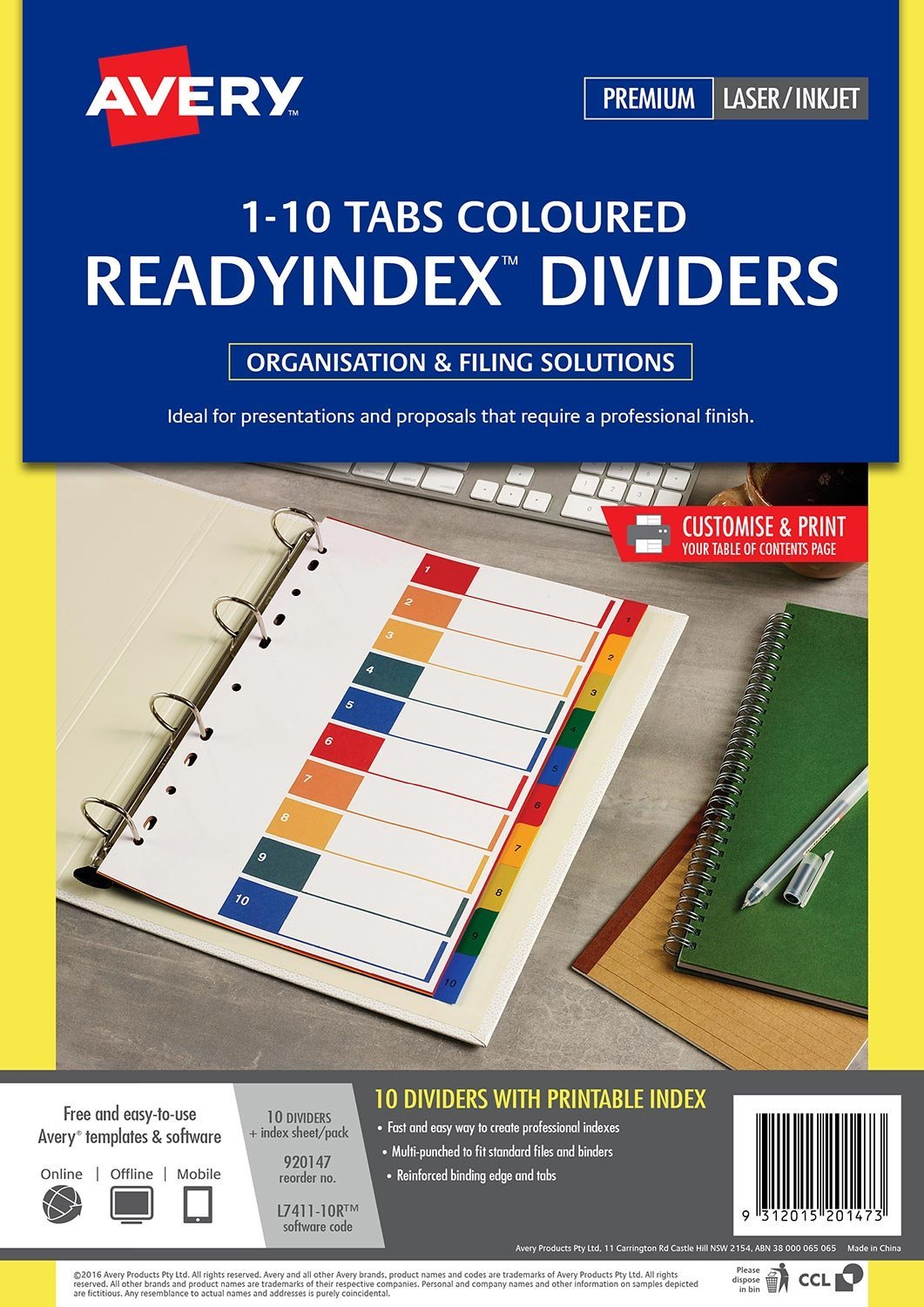 580 Discounted Avery 920147 Divider Ready Index Pp Dividers