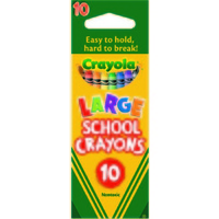 Crayon Crayola Large School Pack of 10 - 52100A