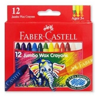 Crayon Jumbo Wax Large - box 12 Assorted Faber Castelle 21120037