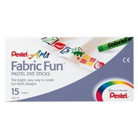 Fabric Dye Pentel Fun Dyeing Pastels PTS15 Box of 15 Sticks