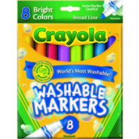 Marker Crayola Washable Bright Colours Pack 8 587819