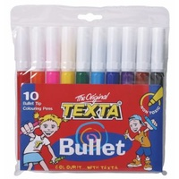 Markers Texta TX230 Bullet Point Pack 10 Texta Colouring Pens