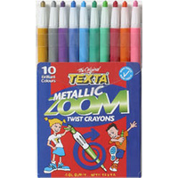 Crayon Texta Metallic Zoom Texta 0277460 - set 10