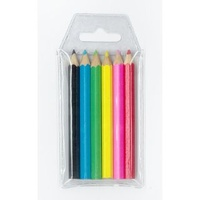 Coloured Pencils  6 short Wallet 6 schools office home