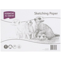 Sketch Pad Derwent A4 Acid Free R31060 100gsm white cartridge paper.