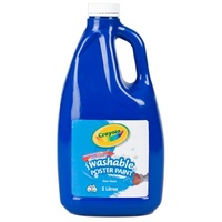 Poster Paint Crayola 2 Litre Washable Blue 542042